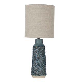 Daintree Ceramic Lamp 28x66cm-Green/Nat