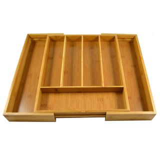31x37x5cm Bamboo Cutlery Tray 7 Section#