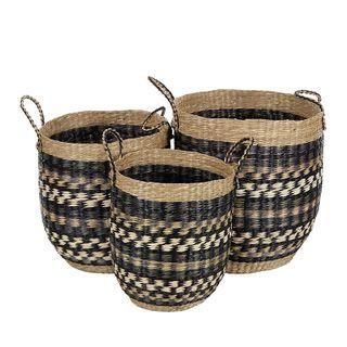 Azure S/3 Seagrass Basket 40x45cm Blue#