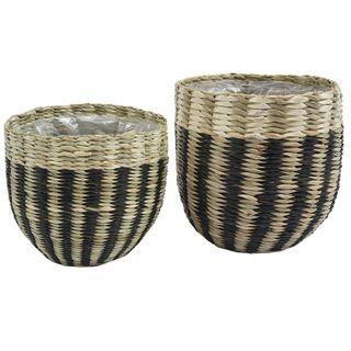 Palu S/2 Seagrass Baskets 15.5x15cm Nat#
