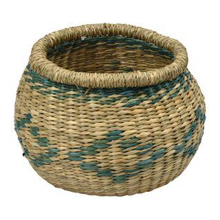 Khari Seagrass Basket- 20x15cmnat/Green#