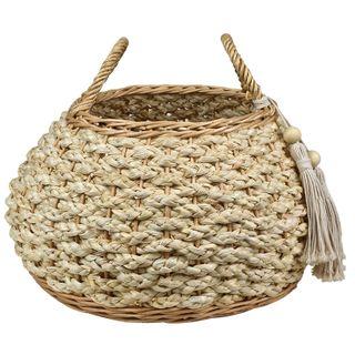 Manu Woven Basket 47x35cm Natural#