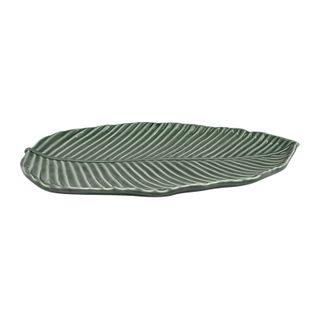 32x22x3.3cm Cer Leaf Serving Platter#
