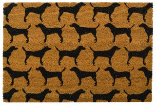 40x60cm PVC Backed Coir Doormat- Dogs#
