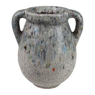 Azure Ceramic Urn 22x19x24cm-Blue/White