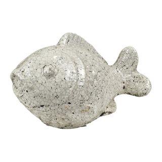 Conch Fish Sculpture 25x14x17cm- White