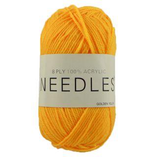Yarn/8Ply/100 Gram/Acrylic/Golden Yellow