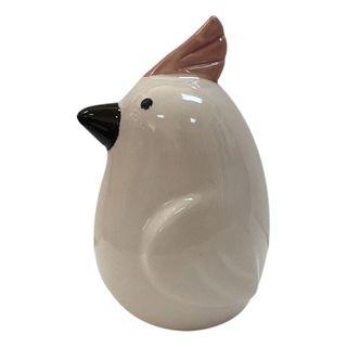 Cockatoo Ceramic Sculpture 11x18cm-White