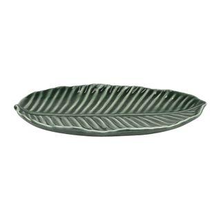 19.5x12.5x5cm Cer Leaf Serve Platter#