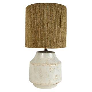Pacifica Ceramic Lamp 34x65cm-White/Rope