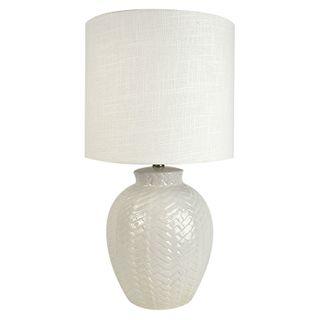 Braid Ceramic Lamp 32x60cm- White/White