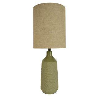Frond Ceramic Lamp 25x63cm-Green/Natural