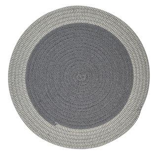 Demi Cotton Round Placemat 38cm Grey/Wht