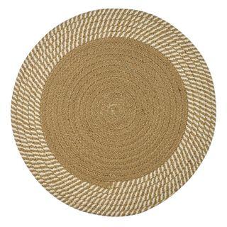 Demi Cotton Round Placemat 38cm Nat/Ivo