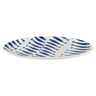 Skool Ceramic Plate 15x25cm Wht/Blue#