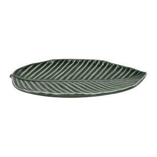 25x17x2.2cm Cer Leaf Serving Platter#