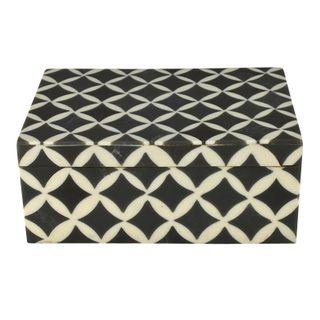 Asha Trinket Box 10x15cm Grey/Ivory
