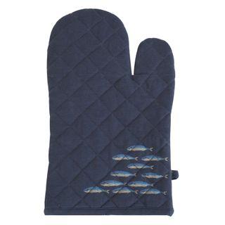 Fish Cotton Oven Glove 16x32cmNavy/Blue#