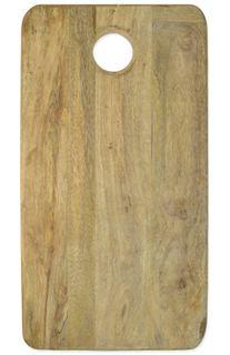 46x24x2cm Rect Mango Wood Board W/Hole