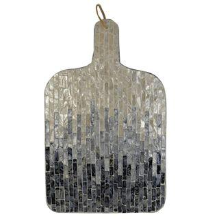 Suri Inlay Board 25.5x42cm- Grey/Ivory