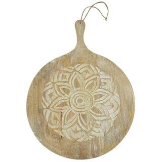 Nyala Wood Round Board 40x54cm-Nat/White