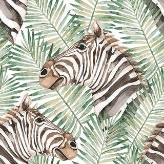 Zebra Leaf 20pck 3Ply 33cm Napkin