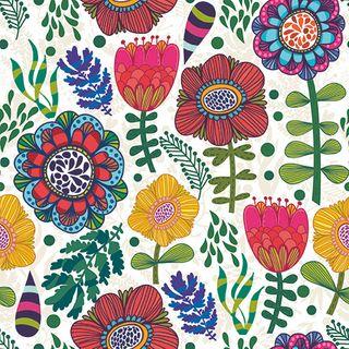 Folk Floral 20pck 3Ply 33cm Napkin