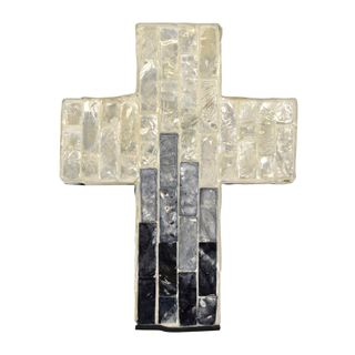 Suri Inlay Cross-Small 11.5x15cm-Iv/Grey