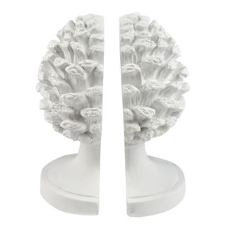 Acorn S/2 Ceramic Bookends 16x22cm White