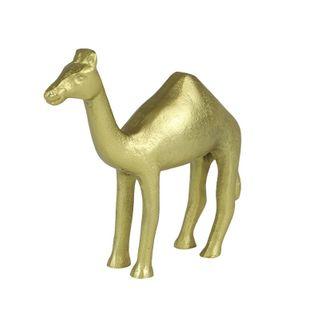 Cyril Camel Metal Sculpture 13x14cm Gold