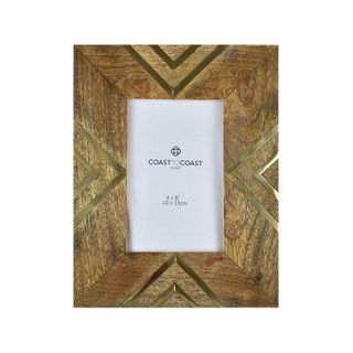 "CORBIN WOOD 4x6"" FRAME 16x21cm-NAT/GOLD"