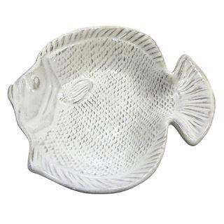 Fish Ceramic Bowl 17x18x4cm- White#