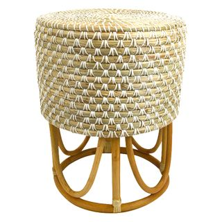 Sioux Seagrass Stool 35x45cm Nat/Wht