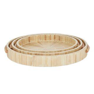 Nadi S/3 Bamboo Inlay Trays 40x5cm Nat