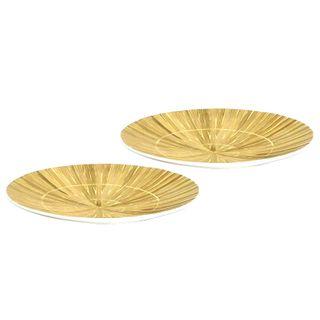 Nadi S/2 Bamboo Inlay Plates 35cm Nat#
