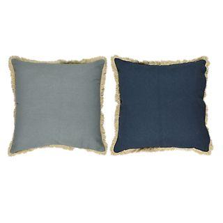 Sybill Cott Reverse Cushion 50x50cm Blu#