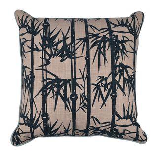 Banbu Cotton Cushion 50x50cm Pink/Navy#