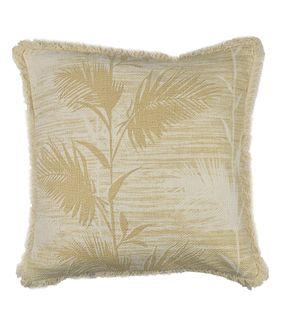 Bahama Leaf Cotton Cushion 50x50cm Nat