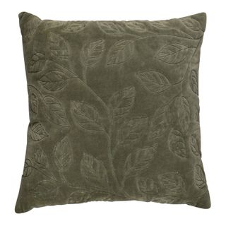 Thea Velvet Stitch Cushion 50x50cm Grn#