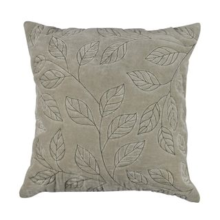Thea Velvet Stitch Cushion 50x50cm Sage#