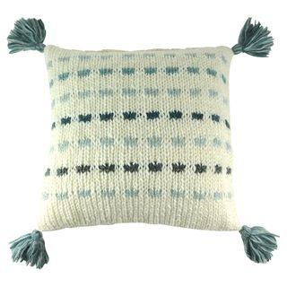 Andreas Knit Cushion 50x10cm Ivory/Blue#