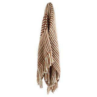 Gizella Knit Throw 125x150cm Nude/Wine#