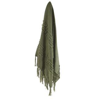 Malmo Knit Throw 125x150cm Green#