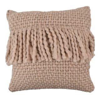 Carin Wool Blend Cushion 45x45cm Blush#