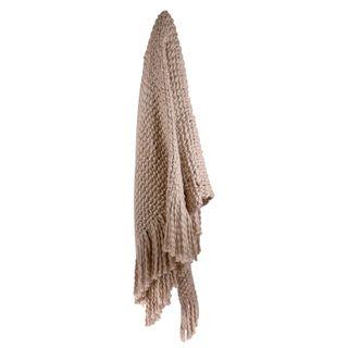 Carin Wool Blend Throw 125x150cm Blush#
