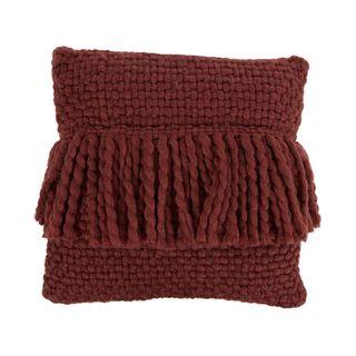 Carin Wool Blend Cushion 45x45cm Wine#