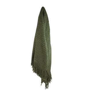Carin Wool Blend Throw 125x150cm Green#