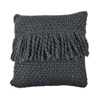 Carin Wool Blend Cushion 45x45cm Slate#