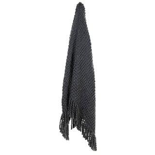Carin Wool Blend Throw 125x150cm Slate#