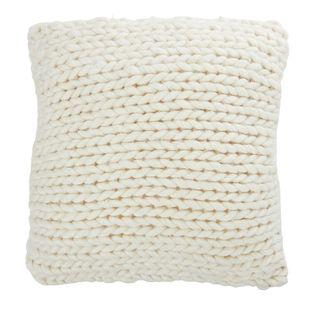 Tabitha Wool Blend Cushions 50x50cm Ivo#